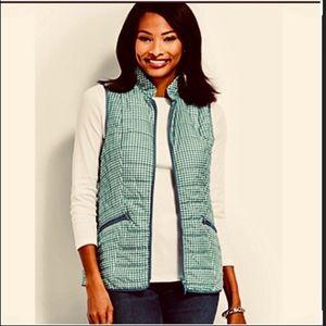 NWT Talbots gingham zip vest size 1X